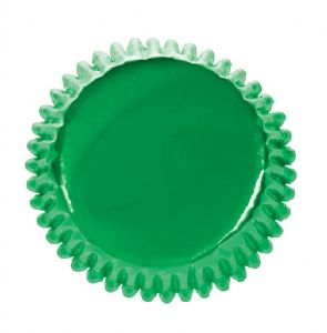 Green Coloured Paper Lined Foil Baking Cases